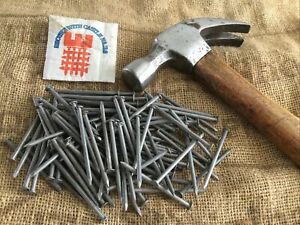 Vintage Steel Wire Nails 3 Inch X 100 Pack British Made By Castle.