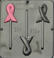 Awareness Ribbon Lollipop Chocolate Candy Mold  3398 NEW