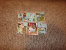 VINTAGE  LOT OF {6} 1970'S TOPPS BASEBALL CARDS {BOSTON REDSOX]