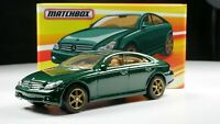 Mercedes-Benz CLS 500 1/64 Scale Diecast Diorama Car Real Riders Green