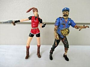 "1999 Capcom Toy Biz Resident Evil 2 Clair Redfield Zombie Cop 5"" Figures Loose"