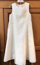 Perfectly Dressed ~ Girls Sleeveless Dress ~ Size 6 X Ivory ~ Spring/Summer