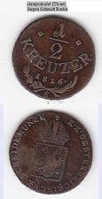 stampsdealer 1/2 Kreuzer 1816 S Franz II. ANK 17 (Tb.nn)