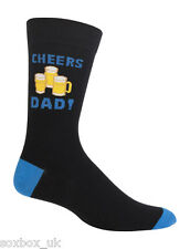 Mens Cheers Dad Beer Fathers Day Novelty Gift Box Socks  7-11 Uk, 40-45 Eur