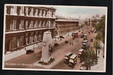 L@@K  Cenotaph and Whitehall London 1930's? RP Postcard ~ LOVELY SHADES