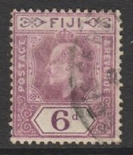 Fiji - 1910, 6d Dull Purple stamp - Wmk Mult Crown CA - G/U - SG 121