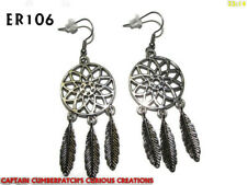 steampunk earrings dreamcatcher protection hypoallergenic stainless steel #ER106