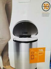 simplehuman 10 Liter / 2.3 Gallon Stainless Steel Small Semi-Round