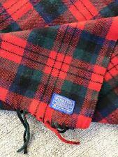 Vintage USA Made Wool PENDLETON  Tartan Fringed BLANKET 72 X 56 Shirt Stadium