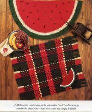 Watermelon & Tartan Rugs Vanna Crochet Pattern Leaflet PATTERN/INSTRUCTIONS
