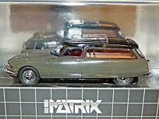 Matrix 1962 Citroen ID19 Cortege Slough Factory Hearse Grey & Black