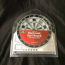 """Halex Electronic  Mini Dart Board With Desktop Stand 27 Games  9"""" Tall x 9"""" Wide"""
