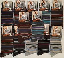 6 pares calcetines de vestir. Casual. Diseño rayas. 93% Algodón. Talla 40 / 46