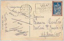 ITALIA REGNO storia postale   Sass 226  ISOLATO su CARTOLINA 1928