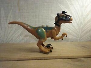 JURASSIC DINOSAUR PARK WORLD RAPTOR DINO t rex velociraptor camera harness brown