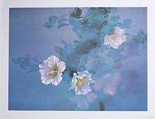 "LAVENDER LIGHT Wall Art 18"" x 24"" Floral Vintage Lithograph by artist David Lee"