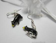 American black bear Grizzly Bear 3D charm earrings wild animal enamel jewellery