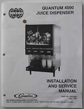 Quantum 4000 Juice Dispenser Installation Service Manual IMI Cornelius Wilshire
