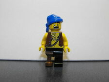 Lego Pirate Minifigure With Chest Hair, Peg Leg & Blue Head Wrap
