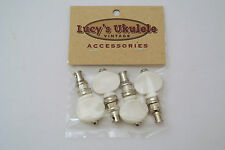 Lucy's Ukulele Vintage Style Friction Pegs Tuners White Buttons