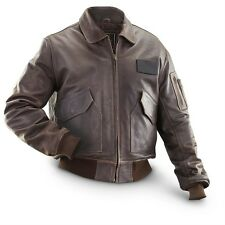 Alpha Industries CWU 45/P Faded Brown Leather Jacket - Medium - SALE!!!