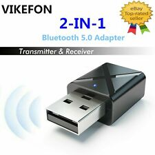 2 in1 USB Bluetooth 5.0 Transmitter Receiver AUX Audio Adapter for TV/PC/Car UK