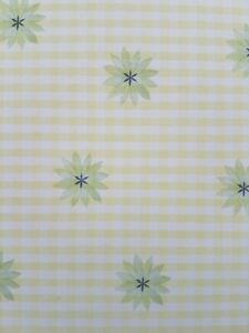 5 x 12x12 Craft Paper Scrapbooking Green Gingham Check Square Flowers