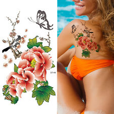 Supperb Temporary Tattoos - Flowers in Chinese painting Temporary Tattoo