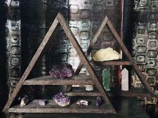 Triangle Wall Crystal Shelf Spiritual Gift Decor Display Ornaments Pyramid