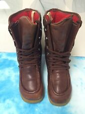 Bass Lace Up Boots Vintage Brown Urban Work Womens 8.5 M      4155