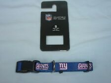 """New York NY GIANTS  9""""- 14"""" long DOG/PET COLLAR  size Small 5/8"""" wide NWT Sparo"""