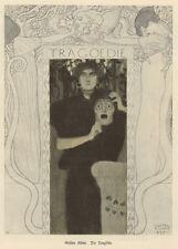 "or. Farblitho Gustav Klimt ""Die Tragödie"" Jugendstil Secession Wien Malerei 1897"
