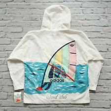 Vintage 80s New Adidas Island Club Ripstop Pullover Size L