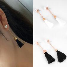 Long Tassel Earrings Drop Dangle Pearl Ears Studs  Earrings Bohemia Lady Jewelry
