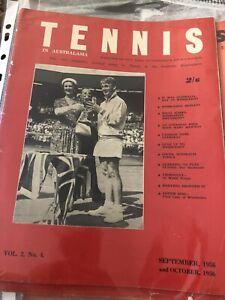 Tennis In Australasia September October 1956 Vol.2 No 4 Lew Hoad Ex Condition