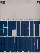 American Motors AMC Spirit & Concord 1981 USA Market Sales Brochure