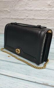 Coach Handbag Polished Pebble Riley Chain Clutch Bag 100% Genuine With Tags