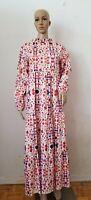 Vintage Maxi Floral Tiered Dress, Medium