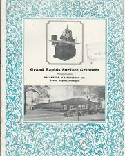 GRAND RAPIDS SURFACE GRINDERS 1930 CATALOG