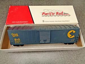 Pacific Rail Shops S Scale Baltimore & Ohio Chessie 50' Box Car, B-514 R.T.R