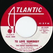 Sweet Inspirations ORIG US Promo 45 To love somebody EX '68 Atlantic Soul Pop