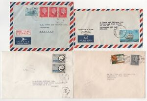 1973 to 1976 TURKEY - 4 x Air Mail Covers to LEICESTER GB Job Lot