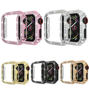 44/40mm Glitter Diamond Bumper Protective Case For Apple Watch Series 5 4 Cover