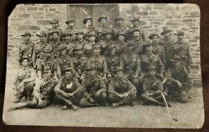 Australian WW1 postcard of AIF troops, Diggers