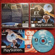 E.T.. Extra Terrestrial ORIGINAL BLACK LABEL Sony Playstation PS1 PS2 PAL