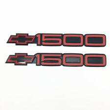 90 91 92 93 Chevy SS 454 Door Emblem Moulding Red Black Nameplate Badge 2pc HTF