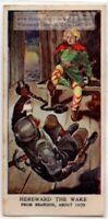 Escape of 'Hereward the Wake' Anglo-Saxon Rebel 1930s Trade Ad Card