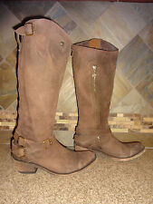 Womens Liberty Sz 7.5 #7079 Brown Leather Cowboy Boots Buckles