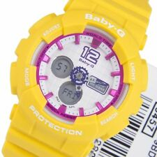 Casio Baby-G Yellow Womens Sports Quartz Watch BA-120-9B BA-120-9 BA120
