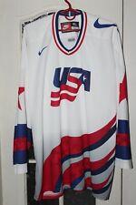 USA United States of America Vintage Ice Hockey Nike White shirt jersey trikot
